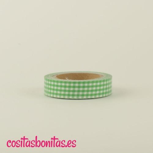 FabricTape_cuadritos_verde