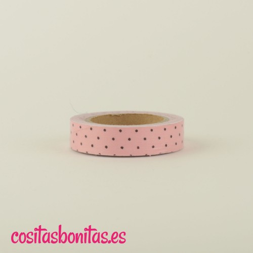 FabricTape_rosa_dots_negros